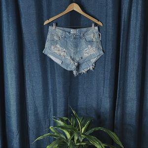🌻MOVING SALE🌻 New One Teaspoon Denim Shorts